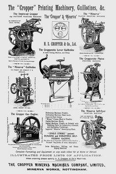 The Cropper Minerva Machines Company Ltd Letterpress Machine, Letterpress Printing, History Of Typography, Cultura General, Magazine Layout Design, Antique Tools, Antique Illustration, Printing Press, Vintage Tv