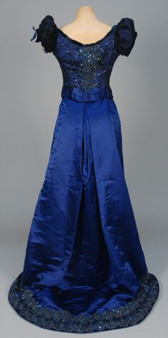 Evening dress, House of Worth, 1880's