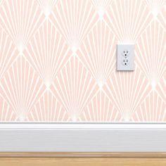 Art Deco - Blush Texture custom wallpaper by kimsa for sale on Spoonflower Self Adhesive Wallpaper, Custom Wallpaper, Wallpaper Roll, Drawer And Shelf Liners, Perfect Wallpaper, Design 24, Fabric Art, Texture Design, Textured Walls
