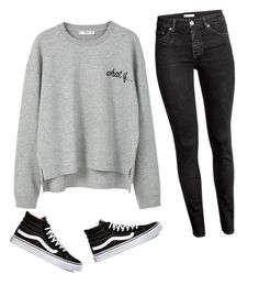"""""""What If..."""" by liveloveshopfashion ❤ liked on Polyvore featuring MANGO, H&M and Vans"""