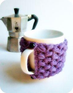 Coffee cozy Mug cozy Tea cup lavender purple wool by KnotworkShop, $15.00