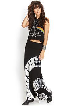 Tie dye maxi skirt: almost bought one of these a couple months ago and i really regret it because now i really want one