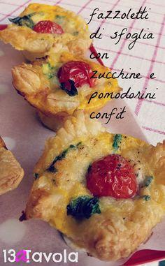13aTavola: Fazzoletti di sfoglia con zucchini e pomodorini co...