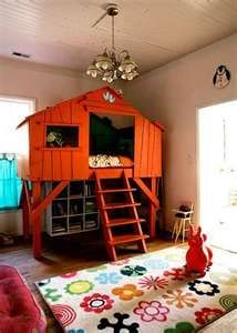 Indoor Tree House Bed For Kid Or Parents (secret Hideaway) Bedroom