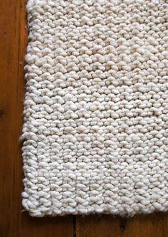 big stitch knit rug  http://www.purlbee.com/big-stitch-knit-rug/
