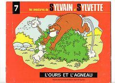 1) 7 LES AVENTURES DE Sylvain et Sylvette-L 'OURS ET L' AGNEAU ET TEXTES DESSINS