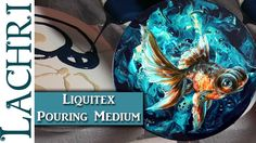 Liquitex Pouring Medium Tips & Painting a Goldfish in Acrylics w/ Lachri