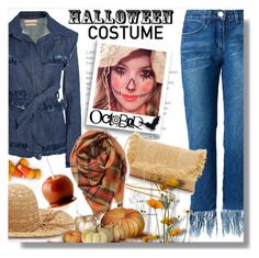 """""""DIY Halloween Costume: Scarecrow"""" by queenvirgo ❤ liked on Polyvore featuring Maggie Marilyn, Hat Attack, BP., Forever 21, halloweencostume and DIYHalloween"""