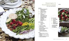 Asparagus and strawberry salad, Brookdale Health Hydro Healthy Foods, Healthy Eating, Healthy Recipes, Artisan Food, Lime Dressing, Country Cooking, Heavenly, Asparagus, Almond