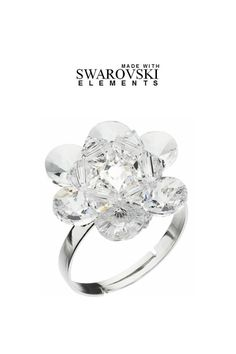 Margherita Ring (Crystal) from Swarovski Elements Jewellery Collection on Brandsfever
