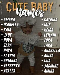 Beautiful Baby Girl Names, Cute Baby Names, Pretty Names, Unique Baby Names, Kid Names, Beautiful Babies, Noms Snapchat, Baby Life Hacks, Cute Mixed Babies