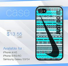 Nike Just Do It Aztec Blue case wood iphone case by SIMPELMonogram, $14.99