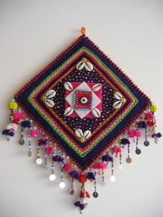 keçe işleri (felt work) ~ Hülya Yılmaz Dream Catcher Mobile, Fabric Art, Fabric Crafts, Recycled Art, Wind Chimes, Kids Crafts, Felt Crafts, Wool Felt, Embroidery Stitches