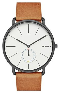 Skagen+'Hagen'+Leather+Strap+Watch,+40mm+available+at+#Nordstrom