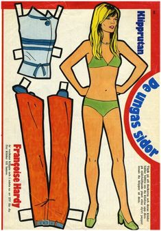 Francoise Hardy Paper Doll