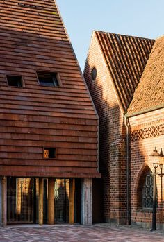 Lundgaard & Tranberg's brick-clad building shelters medieval ruins in southern Denmark