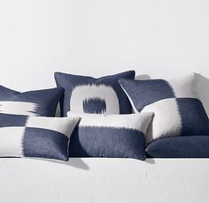 Kerry Joyce Endra Pillow Cover - Indigo