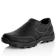 7631MCAS - Rivers Australia. Clifford Centre Tap Slip-On  NOW $25.00 (19-01-16) (WAS $50.00) 7631MCAS in Black  Slip-on features padded collar and cushioned insole for comfort. Textured tread for traction. Non leather upper, lining, and sole.  MATERIAL(S):  SIZE CHART  RETURNS AVAILABLE IN: 7, 8, 9, 10, 11, 12