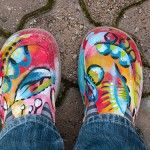 Old shoes - new shoes & wearable art