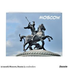 12 month Moscow, Russia Calendar