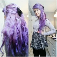 Purple ombre hair extensions~ add hair volume to create wonderful hair style