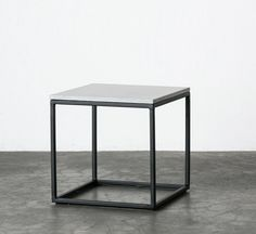 The Minimalist - Slabs By Design concrete top side table / small