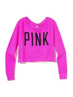 eabdcff2a50e Crop Raglan Tee - Victoria s Secret PINK - Victoria s Secret Pink Love