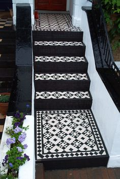 victorian tiled path steps - Google Search