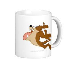 Taz flying through the air coffee mugs
