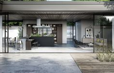 SieMatic Urban SE in graphite oak with stainless steel, L-shaped kitchen island Luxury Kitchen Design, Interior Design Kitchen, Interior Decorating, Kitchen Designs, Kitchen Sideboard, L Shaped Kitchen, Kitchen Models, Traditional Furniture, Kitchens