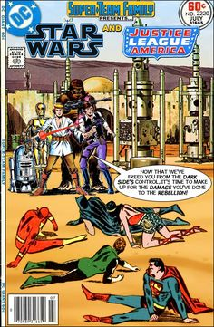 Super-Team Family: The Lost Issues!: Star Wars and The Justice League of America Dc Comic Books, Comic Book Characters, Gi Joe, Dc Comics Vs Marvel, Marvel And Dc Crossover, Star Wars Pictures, Classic Comics, Star Wars Humor, Comic Covers