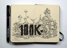 MOLESKINE DOODLES: 100K by kerbyrosanes.deviantart.com on @deviantART