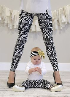 Every child would LOVE to match their mommy! Now you can even match your baby! These darling leggings are super soft and stretchy which allows them to fit so long.