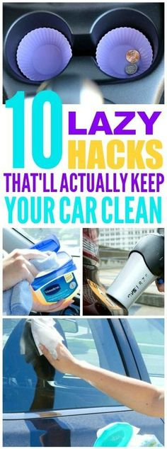 These car cleaning hacks are pretty awesome! I'm glad I found these cleaning and organization tips! Now I have great ways to keep my car clean and tidy and easy DIY ideas! Diy Hanging Shelves, Floating Shelves Diy, Diy Wall Shelves, Diy Hacks, Mason Jar Projects, Car Cleaning Hacks, Cleaning Solutions, Mason Jar Lighting, Simple Life Hacks
