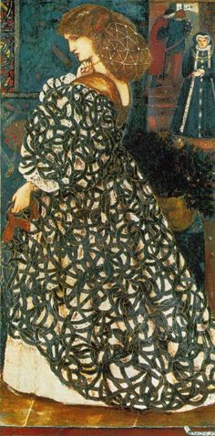 Sidonia von Bork, 1860 by Sir Edward Coley Burne-Jones - omg, I have always loved this painting & if I could replicate the fabric, I'd make it in a heartbeat!