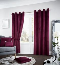 New Aubergine Purple Soft Velour Eyelet Ring Top Fully Lined Curtains All Sizes Fitted Bed Sheets, Linen Sheets, Plaid Bedding, White Bedding, Lined Curtains, Curtains With Blinds, Decorative Curtains, Velvet Curtains, Duvet Cover Sale