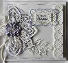 Hello there my crafty friends! I almost forgot about this pretty card, it pays to take a look back through some of my folders every once in awhile, don't you think? I cut a piece of coconut white ca