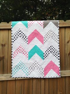 Crib Size Quilt, Follow Your Arrow, Trendy, natural ingredients ...