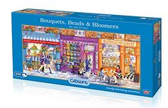 Gibsons G4036 Bouquets, Beads & Bloomers Jigsaw Puzzle (636-Piece) Disney Collector, Best Trade, Thomas Kinkade, Goldfinch, 60th Anniversary, 9 Year Olds, Jigsaw Puzzles, Greeting Cards, Baseball Cards