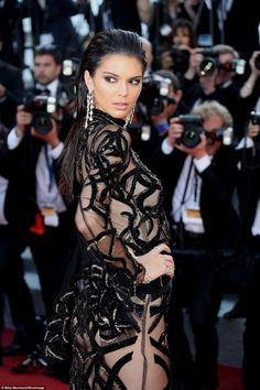 Sizzling:Kendall Jenner took things to new extremes when she upped the glamour to full at...