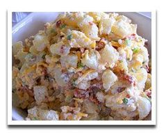 There are potato salads and there are potato salads. If you want your potato salad to stand out above the rest of those mushy, too-rich, mayo-loaded potato salads, you've got to find a way to give yours some oomph. It will make people crazy over your salad and make them want more. One sure way to make that happen is by loading your salad with cheese and bacon, just like with this cheesy bacon and potato salad.