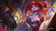 One of my works: new poppy skin for league of legends poppy ragdoll skin Lol League Of Legends, League Of Legends Poppy, Poppy League, Images Wallpaper, Wallpaper Backgrounds, Chen, Splash Art, League Of Legends, Poppies