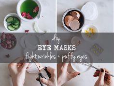 2 DIY EYE MASKS | fighting wrinkles + puffy eyes