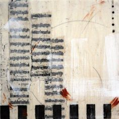 Adagio ~ Encaustic and mixed media on panel by Lisa Bick