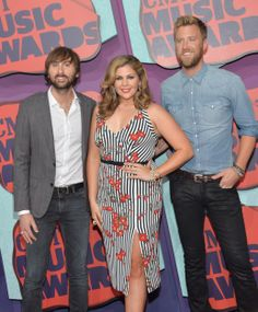 Dave Haywood, Hillary Scott and Charles Kelley of Lady Antebellum attend the 2014 CMT Music awards in Nashville, Tennessee. via StyleList