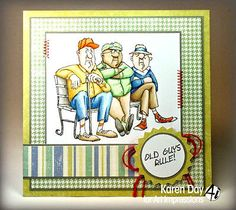 Ol-Geezer-club-2pc set The 3 guys & words: old guys rule. Sold in a set  in my ebay store. Click on picture & it will take you into this listing in my Ebay Store. Made by Art Impressions Rubber Stamps. The Items can be purchased in my ebay Store Pat's Rubber Stamps & Scrapbooks or call me 423-357-4334 with order. We take PayPal. You get free shipping with $30.00 or more on phone in orders