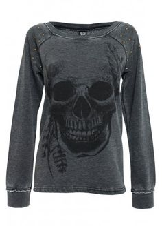 Sullen Clothing Studded Burnout Fleece Top