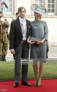 Prince Louis of Luxembourg and Princess Tessy of Luxembourg Morning Suits, Morning Dress, Duke And Duchess, Duchess Of Cambridge, Kate And Meghan, Grand Duke, Princess Charlotte, Cutaway, Royal Fashion