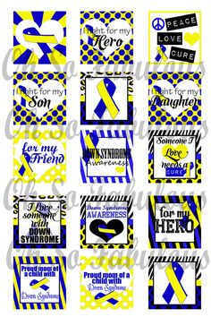 Buy 2 Get 1 Free  Down Syndrome Awareness Blue and by OhSoFabulous, $2.00