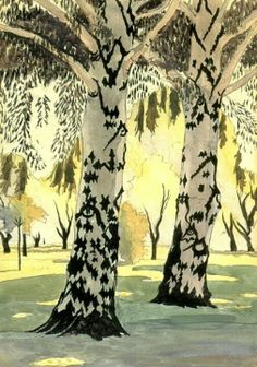 Poplars In May Artwork By Charles Burchfield Oil Painting & Art Prints On Canvas For Sale Landscape Art, Landscape Paintings, Pics Art, Tree Art, Canvas Art Prints, Painting & Drawing, Cool Art, Art Photography, Art Gallery